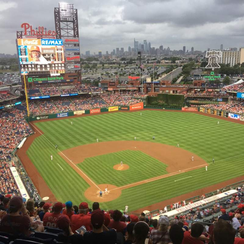Citizens Bank Park, section: 419, row: 16, seat: 9
