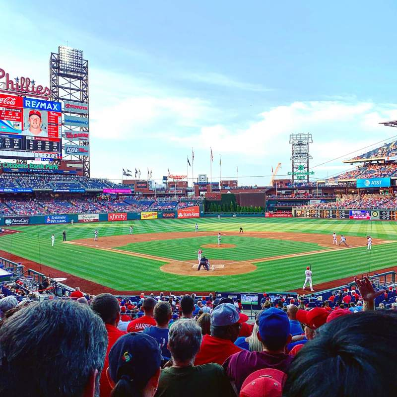 Seating view for Citizens Bank Park Section 123 Row 29 Seat 6