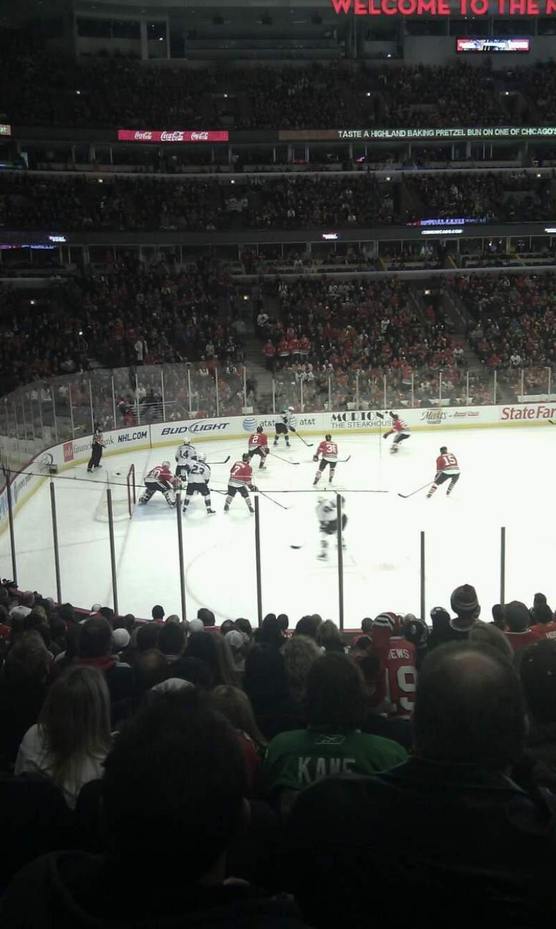 Seating view for United Center Section 114 Row 10 Seat 18