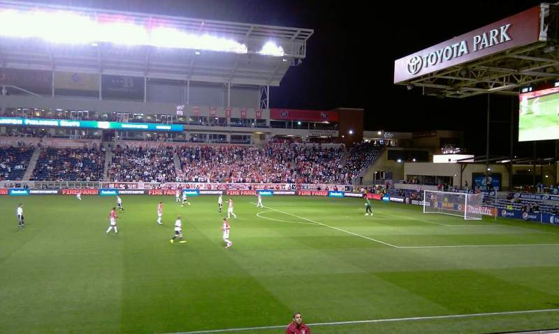 Seating view for Toyota Park