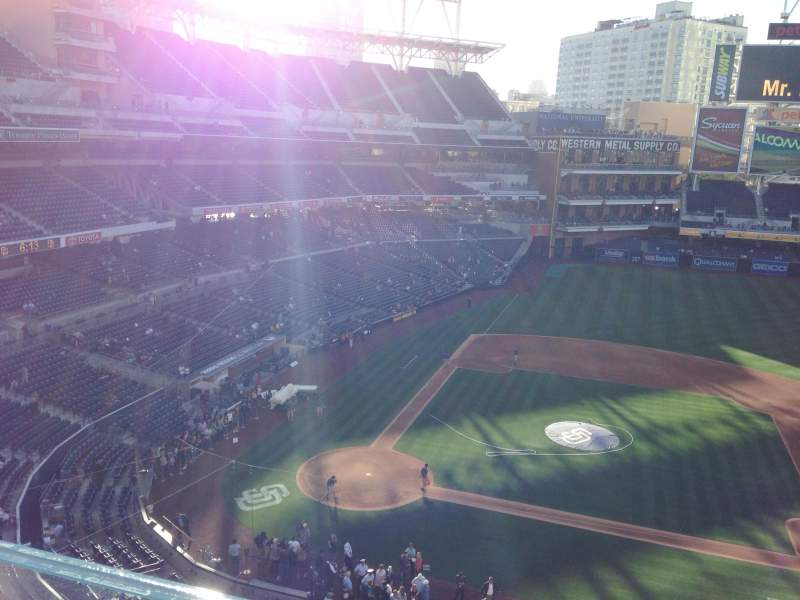 Seating view for PETCO Park Section 309 Row 1 Seat 21
