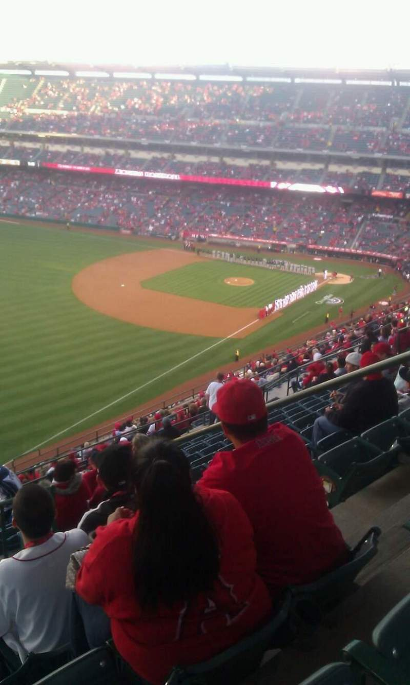 Seating view for Angel Stadium Section 506 Row n Seat 18