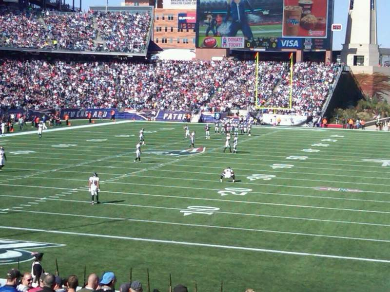 Seating view for Gillette Stadium Section 218 Row 22 Seat 1