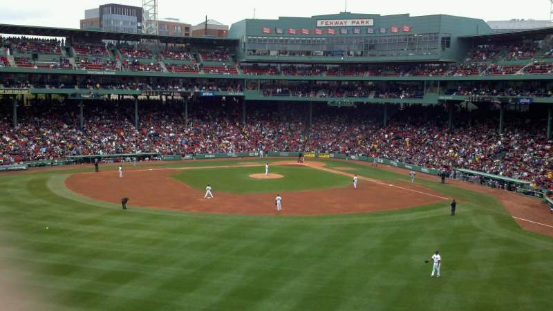 Seating view for Fenway Park Section Green Monster 8 Row 2 Seat 6