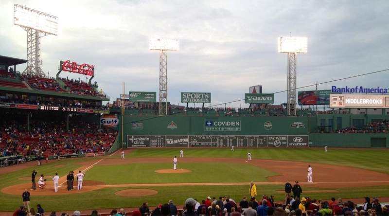 Seating view for Fenway Park Section 16-b120 Row NN Seat 3