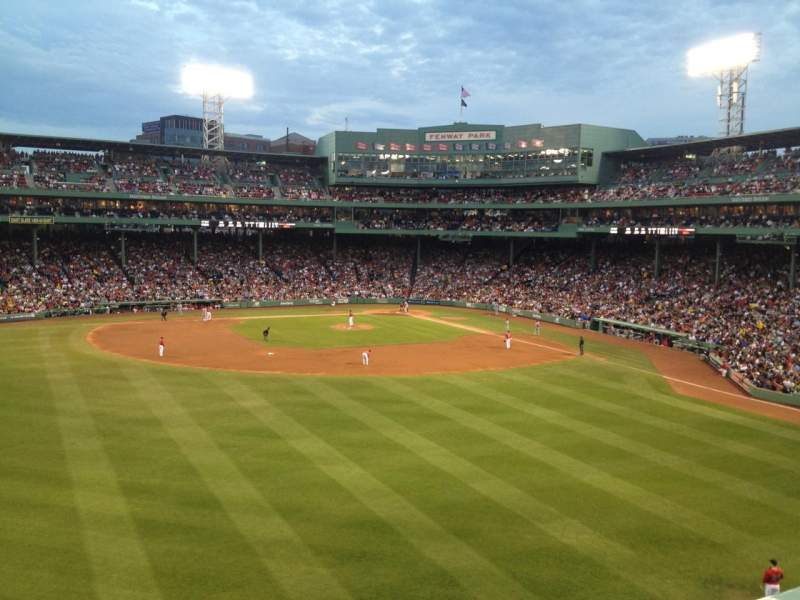 Seating view for Fenway Park Section Green Monster 6 Row 1 Seat 9