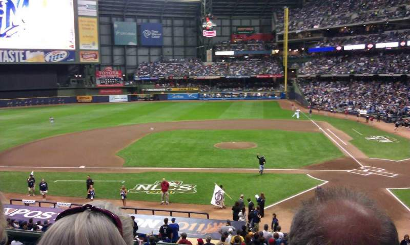 Seating view for Miller Park Section 223 Row 2 Seat 2