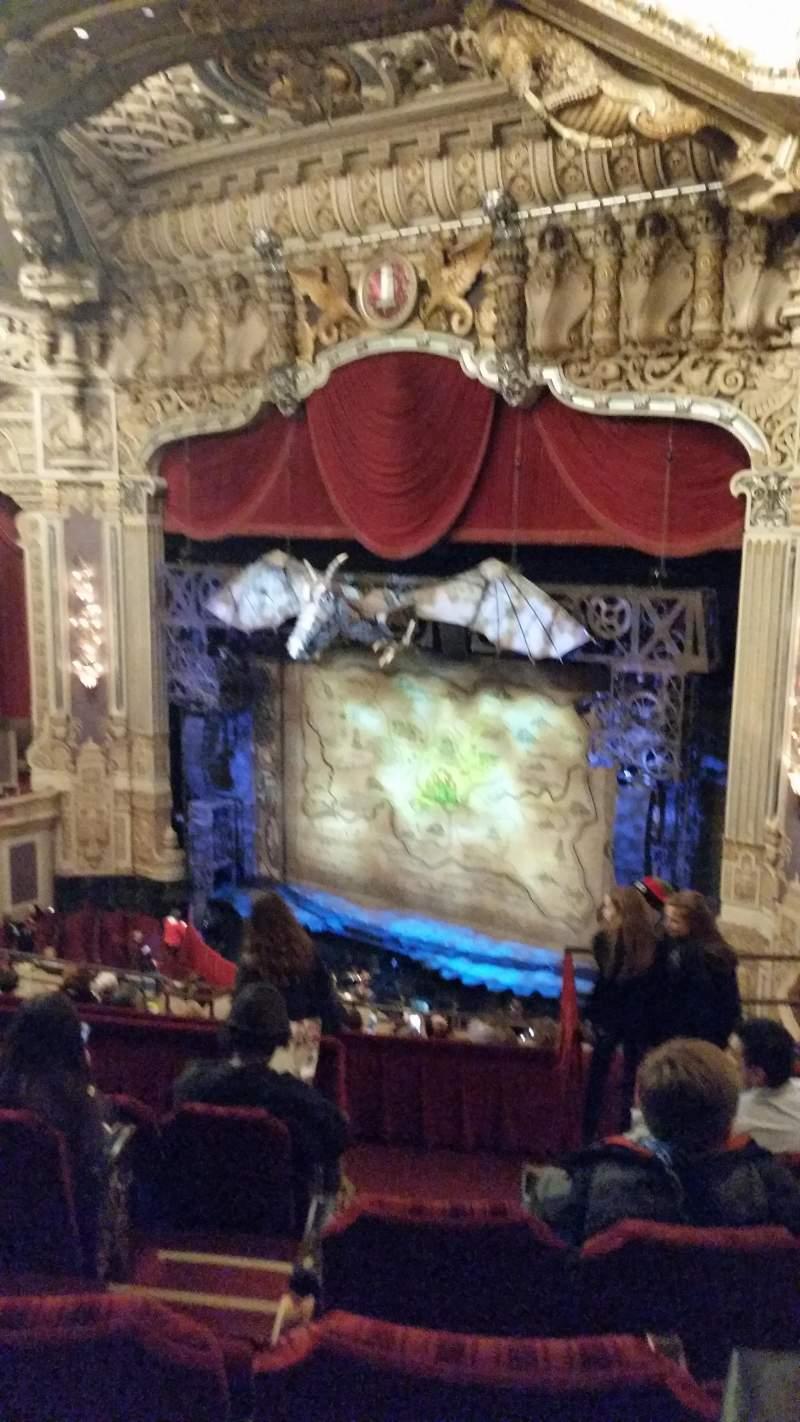 Oriental Theatre, section: Balcfr, row: K, seat: 386
