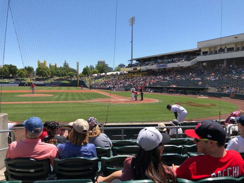 Seating view for Raley Field Section 116 Row 6 Seat 8
