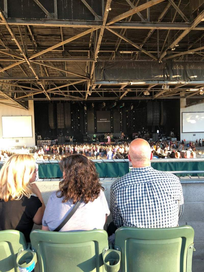 Seating view for Concord Pavilion Section 206 Row CC Seat 2