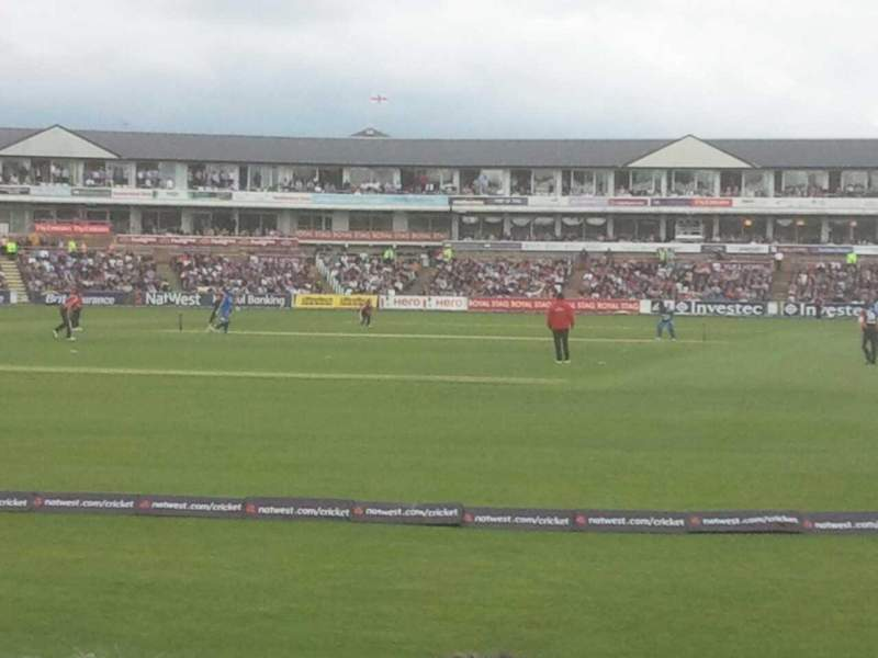 Seating view for Emirates Durham Section NE Terrace 33 Row J Seat 194