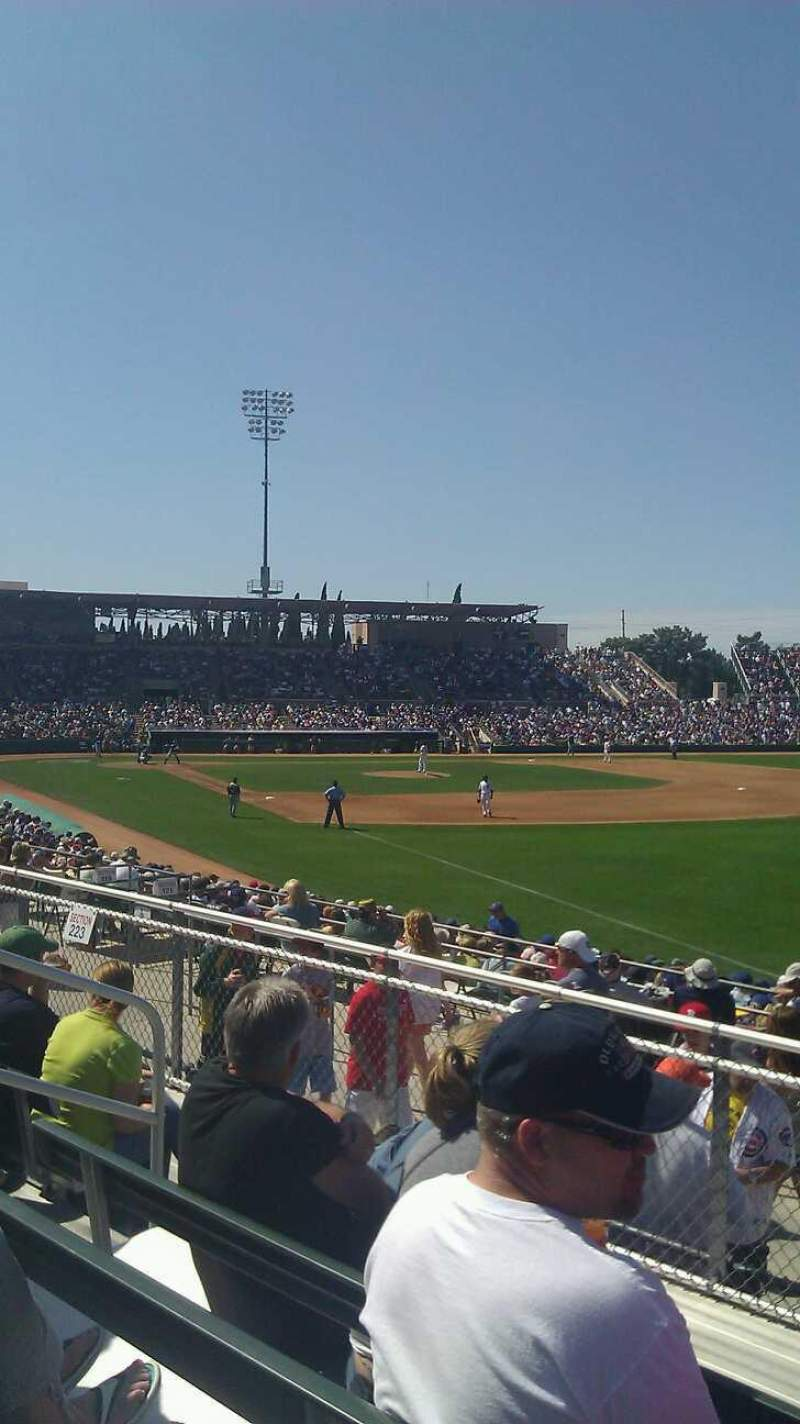 Seating view for HoHoKam Stadium Section 225