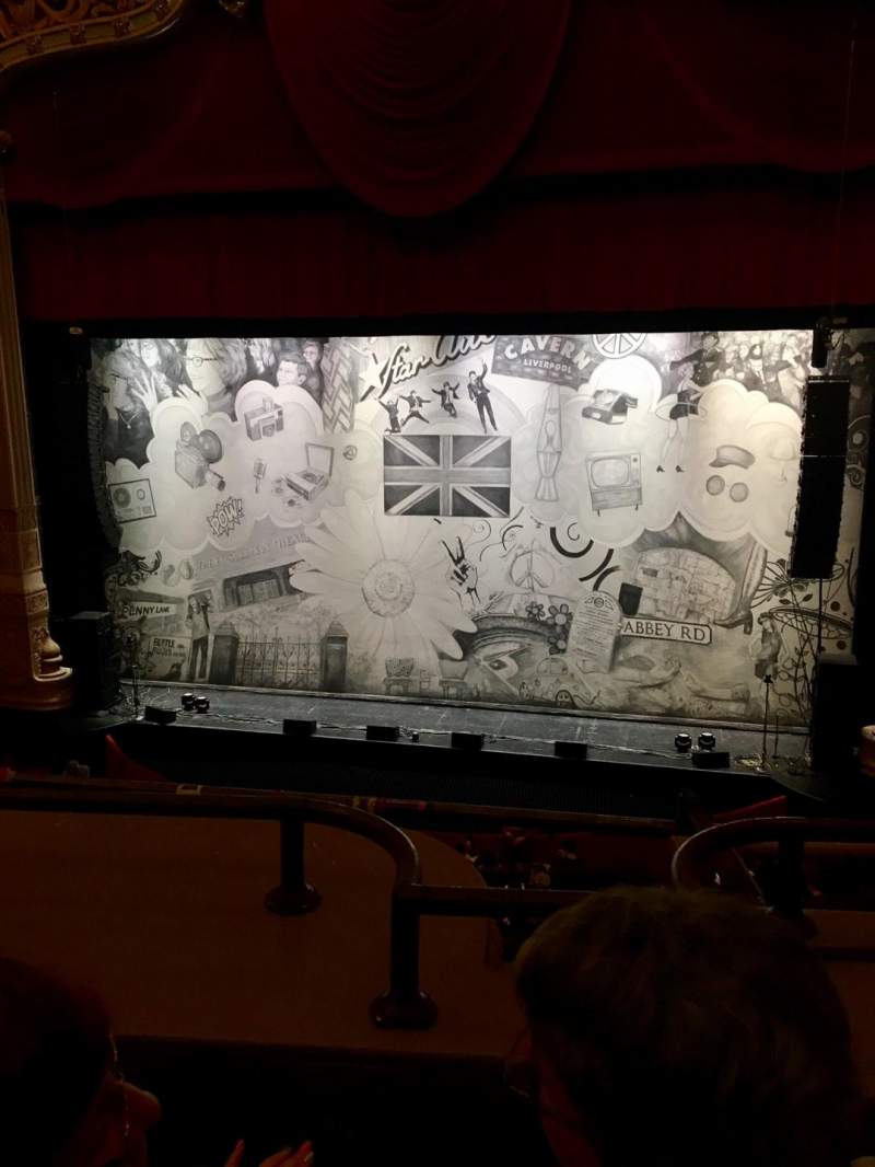 Seating view for James M. Nederlander Theatre Section LOGE RC Row B Seat 322