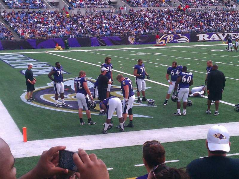 Seating view for M&T Bank Stadium Section 132 Row 10 Seat 5
