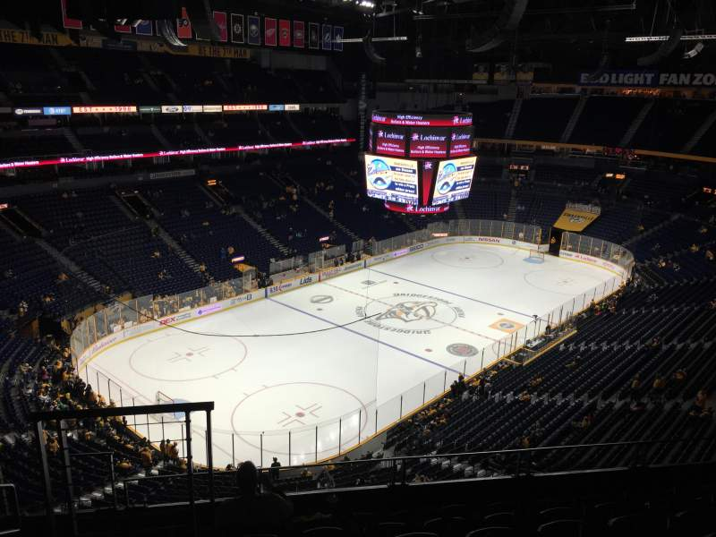 Seating view for Bridgestone Arena Section 305 Row G Seat 12