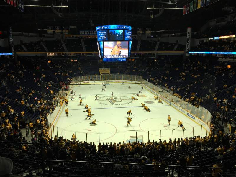 Seating view for Bridgestone Arena Section 224 Row D Seat 11