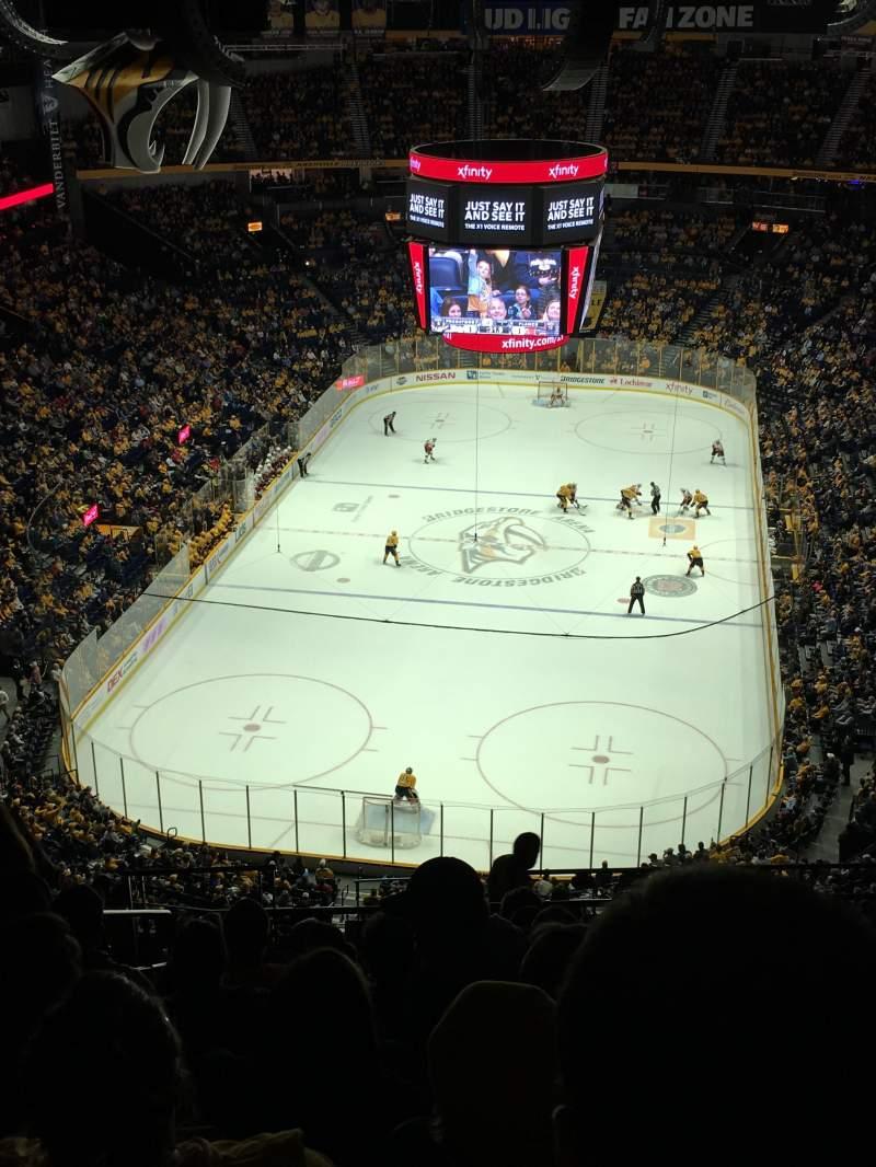 Bridgestone Arena, section: 302, row: Q, seat: 19