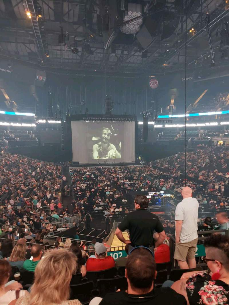Seating view for Spectrum Center Section 102 Row Y Seat 4