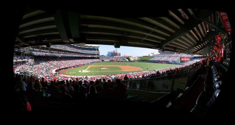 Seating view for Angel Stadium Section T222 Row J Seat 9
