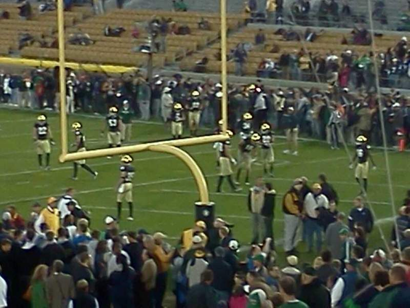 Seating view for Notre Dame Stadium Section 3 Row 31 Seat 1 And 2