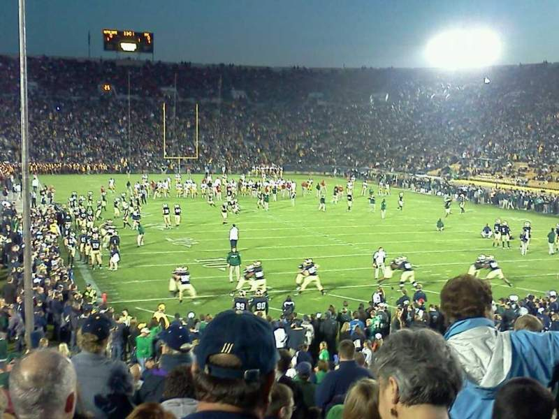 Seating view for Notre Dame Stadium Section 3 Row 31 Seat 1