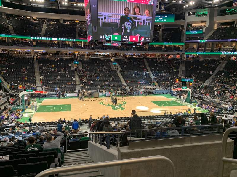 Seating view for Fiserv Forum Section 107 Row 24 Seat 2