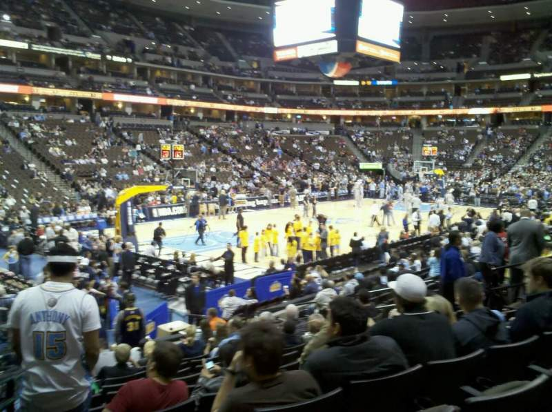 Seating view for Pepsi Center Section 130 Row 13 Seat 16