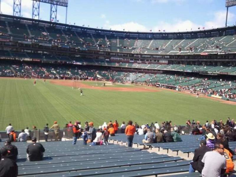 Seating view for AT&T Park Section 141