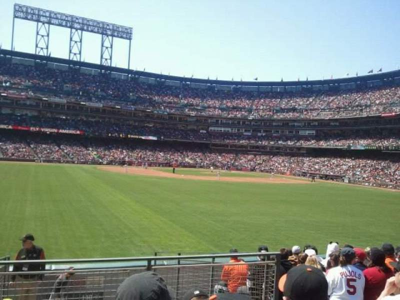 Seating view for AT&T Park Section 141 Row 10 Seat 8