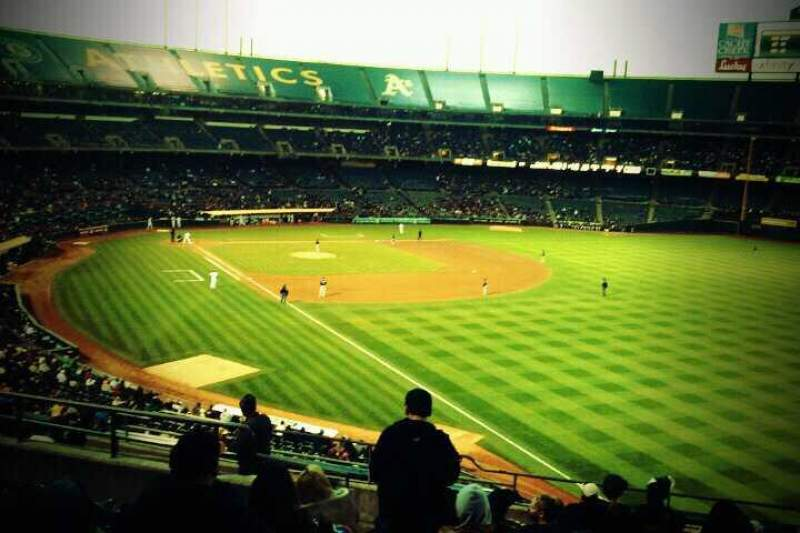 Seating view for Oakland Alameda Coliseum Section 204 Row 12 Seat 15
