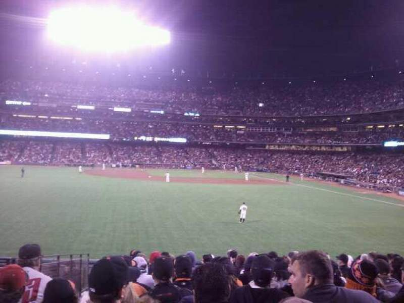 Seating view for AT&T Park Section 138 Row 15 Seat 20