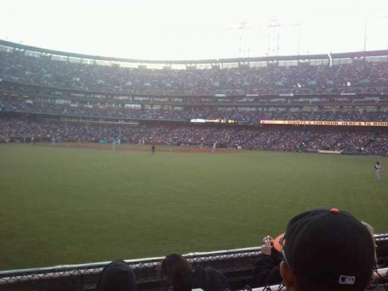 Seating view for Oracle Park Section 144 Row 2 Seat 23