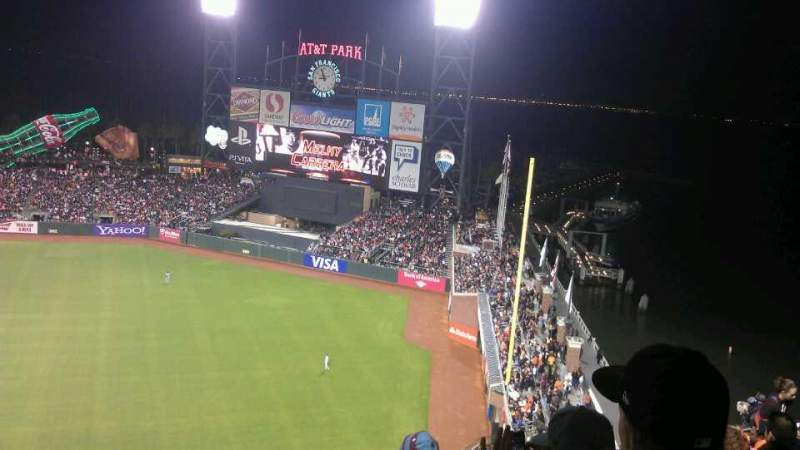 Seating view for AT&T Park Section 304 Row 13 Seat 19