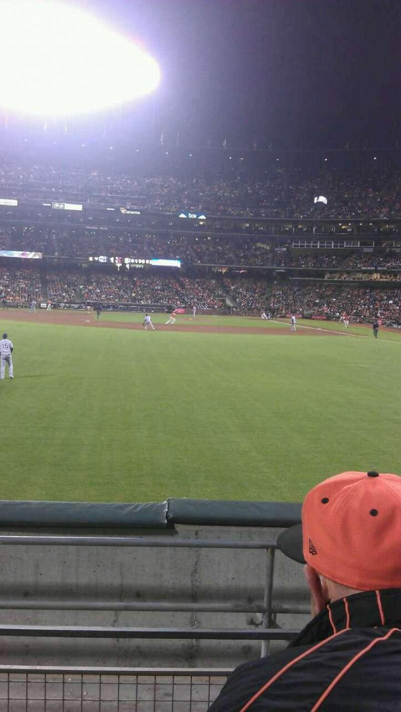 Seating view for AT&T Park Section 138 Row 3 Seat 5