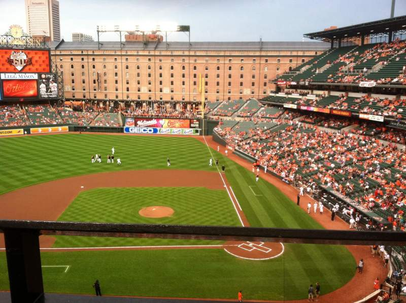 Seating view for Oriole Park at Camden Yards Section 350 Row 1 Seat 6