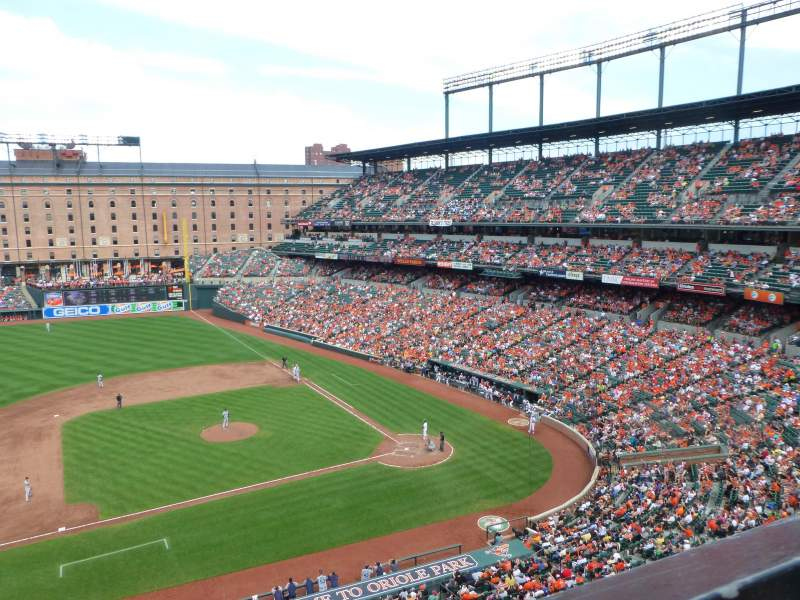 Seating view for Oriole Park at Camden Yards Section 354 Row 1 Seat 1