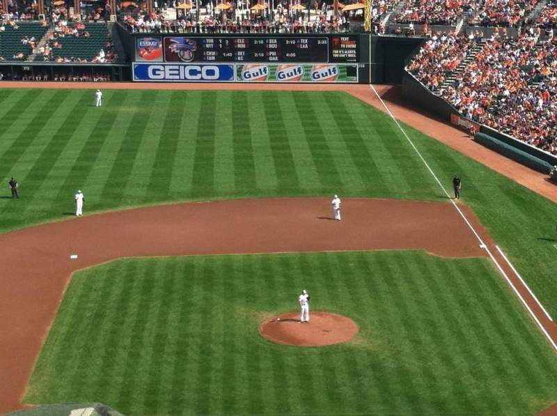 Seating view for Oriole Park at Camden Yards Section 352 Row 7 Seat 2