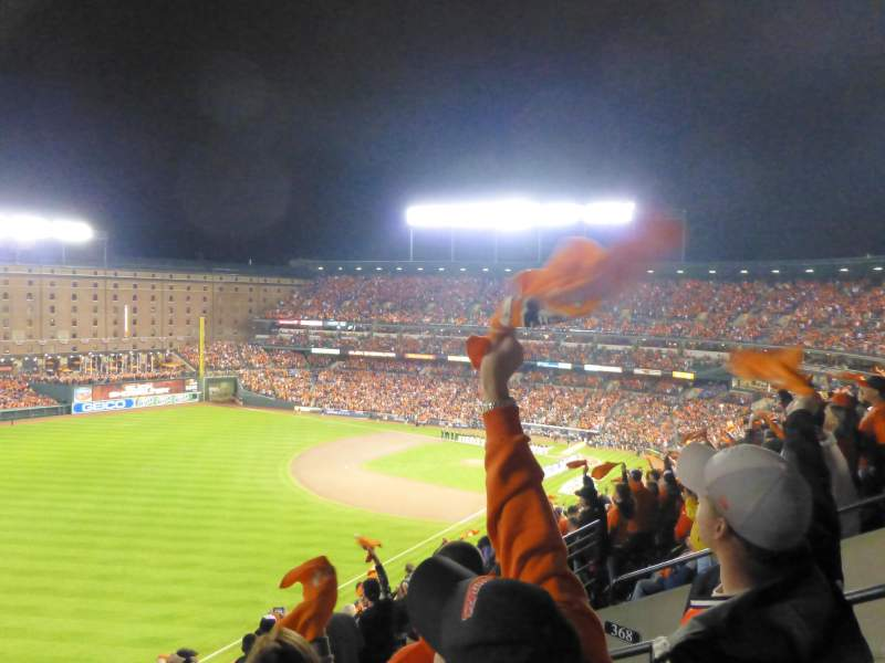 Seating view for Oriole Park at Camden Yards Section 370 Row 11 Seat 4