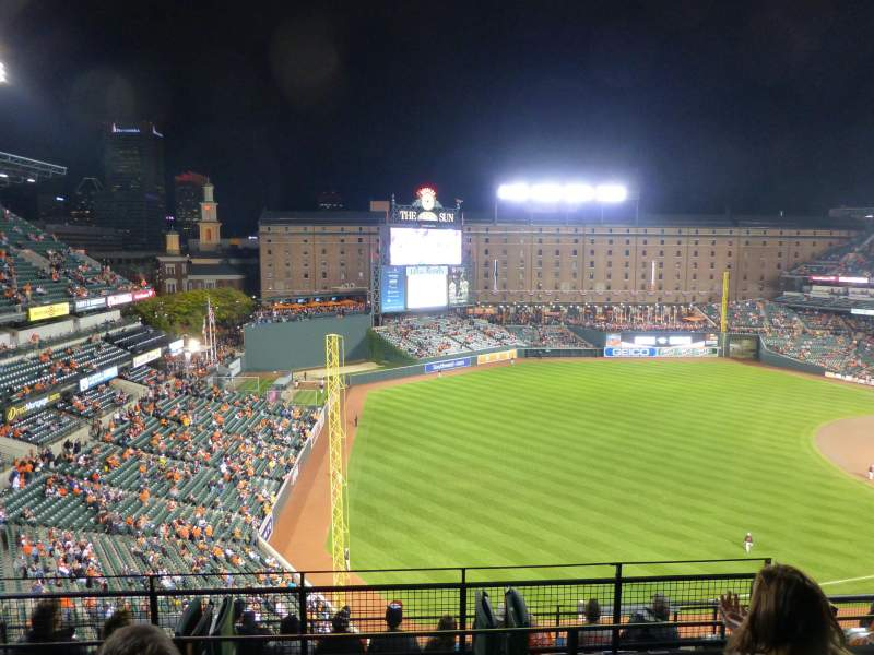 Oriole Park At Camden Yards Section 370 Row 11 Seat 4 Baltimore Orioles Vs Kansas City Royals