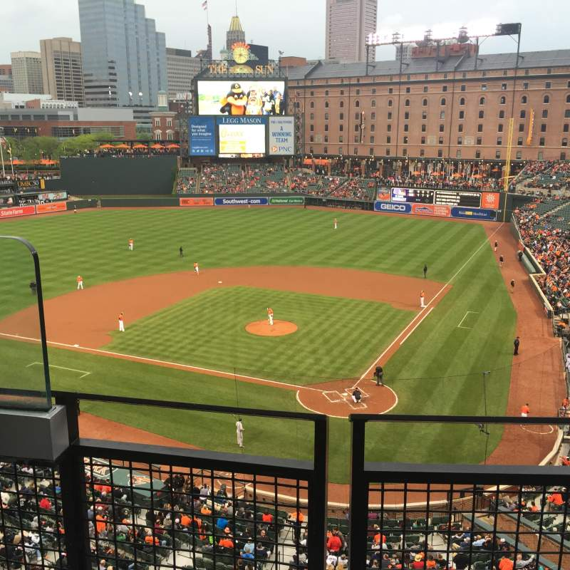 Seating view for Oriole Park at Camden Yards Section 342 Row 2 Seat 12