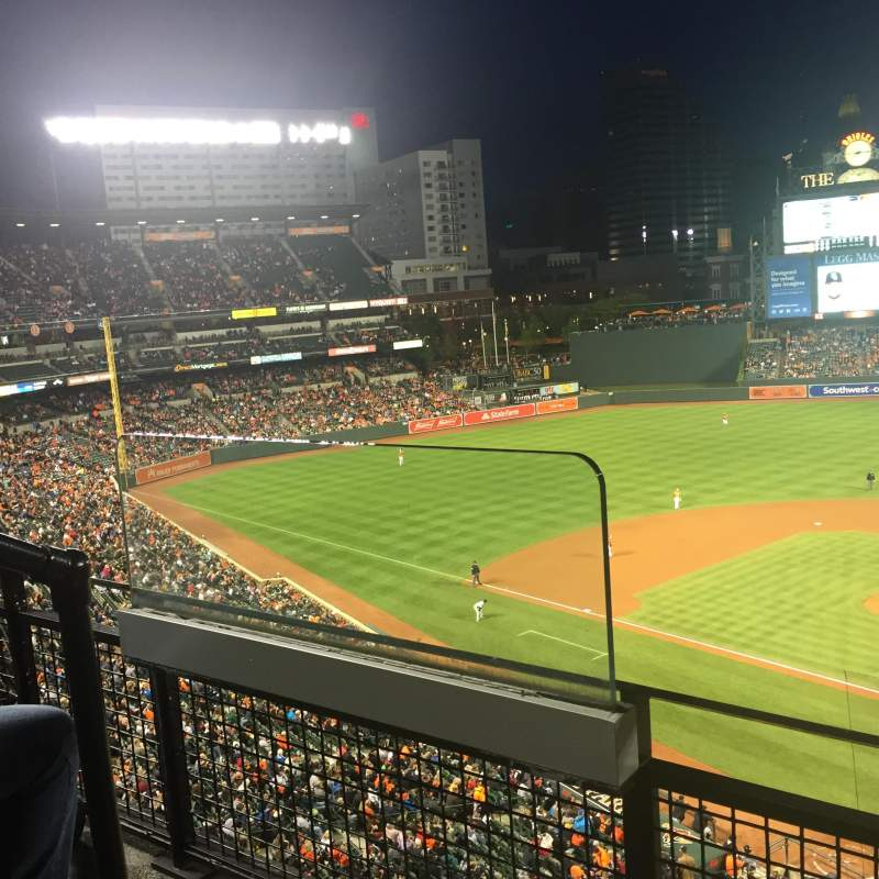Oriole Park At Camden Yards Section 342 Row 2 Seat 12
