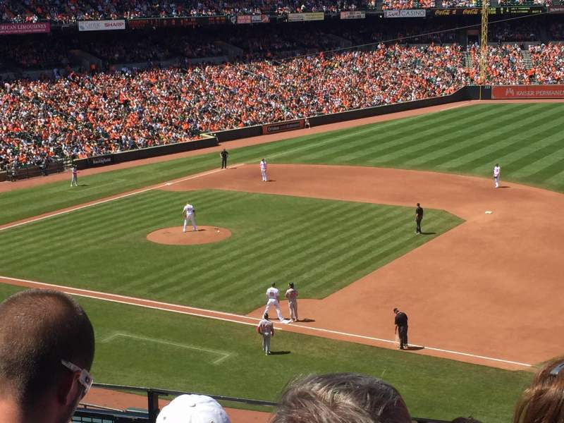 Seating view for Oriole Park at Camden Yards Section 216 Row 5 Seat 9