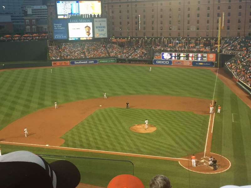 Seating view for Oriole Park at Camden Yards Section 346 Row 4 Seat 9