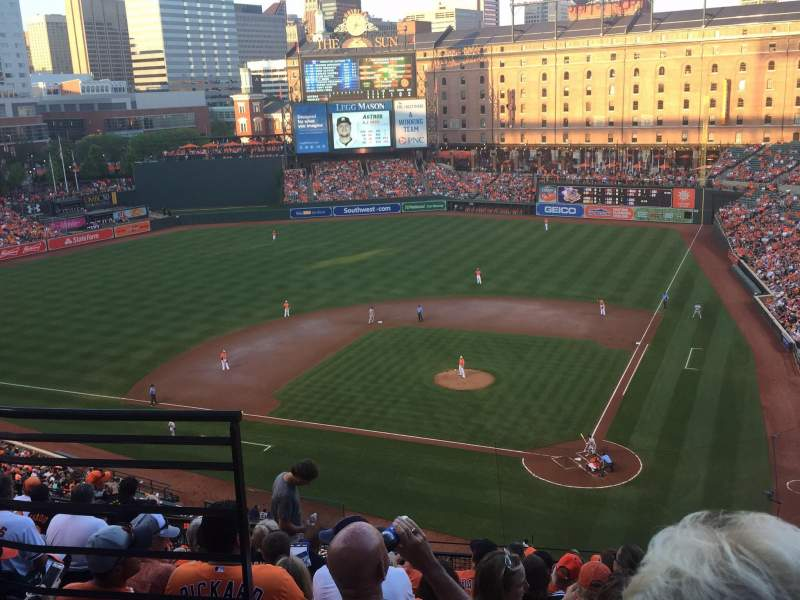 Seating view for Oriole Park at Camden Yards Section 344 Row 10 Seat 7