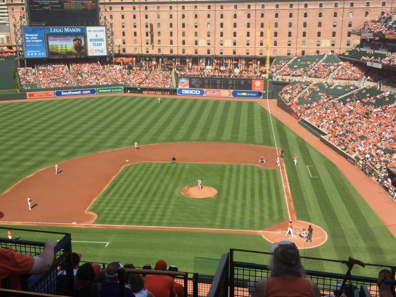 Seating view for Oriole Park at Camden Yards Section 348 Row 10 Seat 6