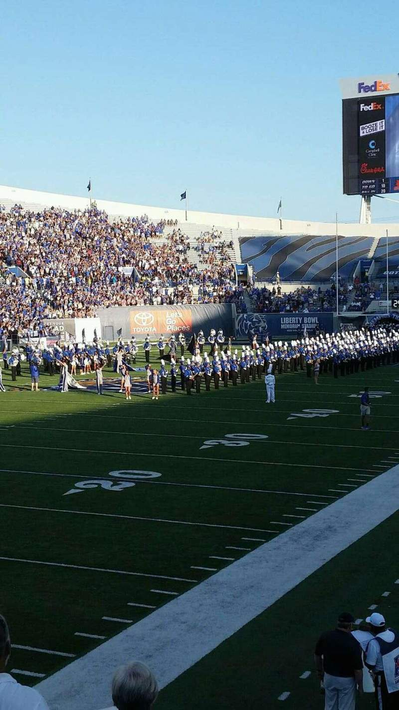 Seating view for Liberty Bowl Memorial Stadium Section 109 Row 16 Seat 11
