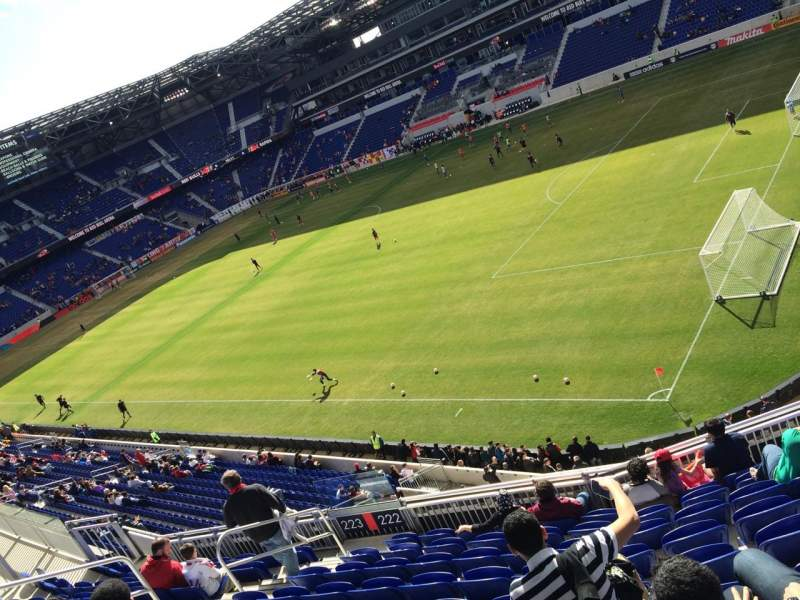 Seating view for Red Bull Arena Section 221 Row 2 Seat 2