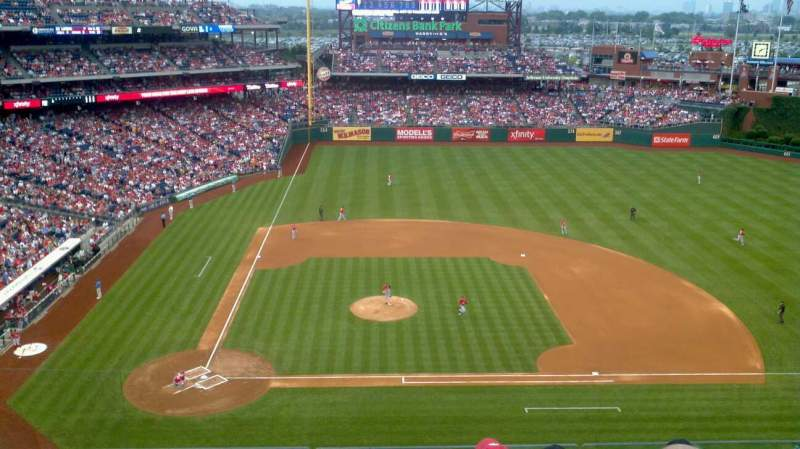 Seating view for Citizens Bank Park Section 316 Row 5 Seat 11