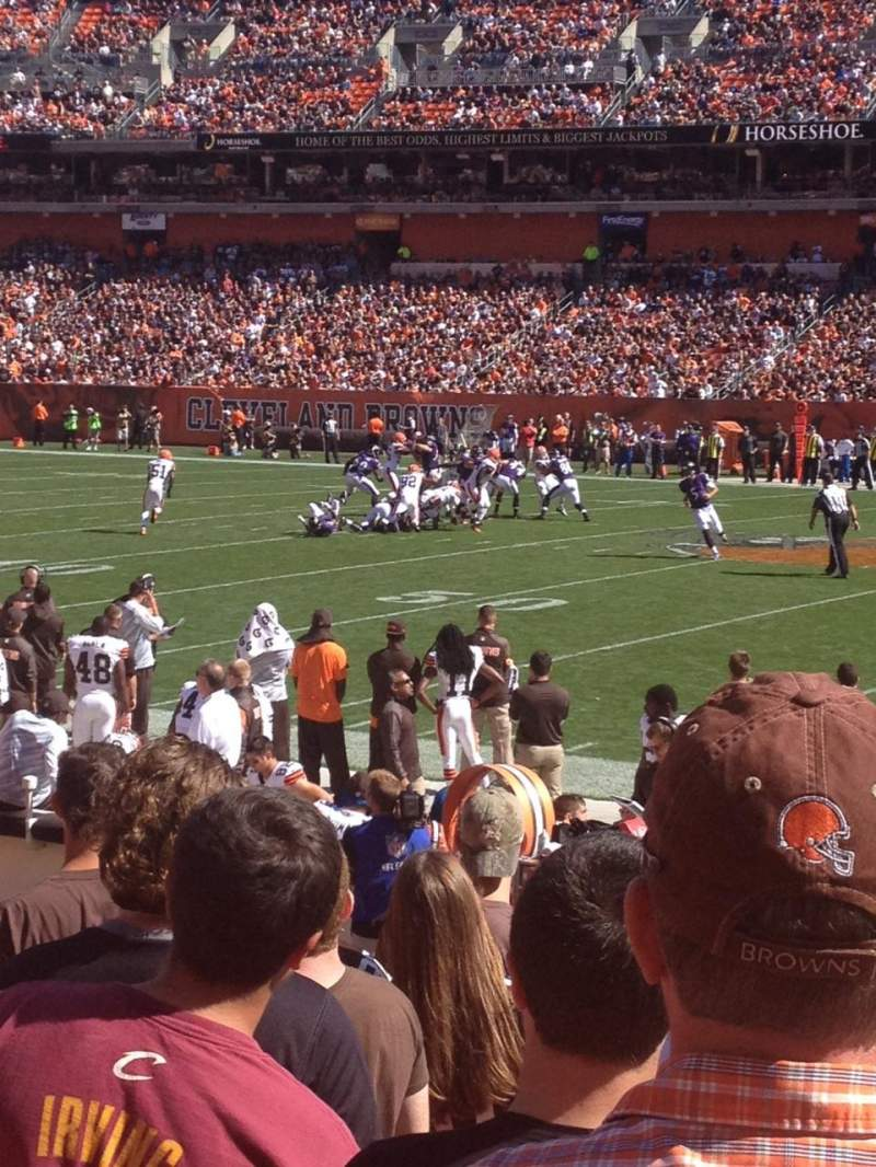 Seating view for FirstEnergy Stadium Section 135 Row 8 Seat 19