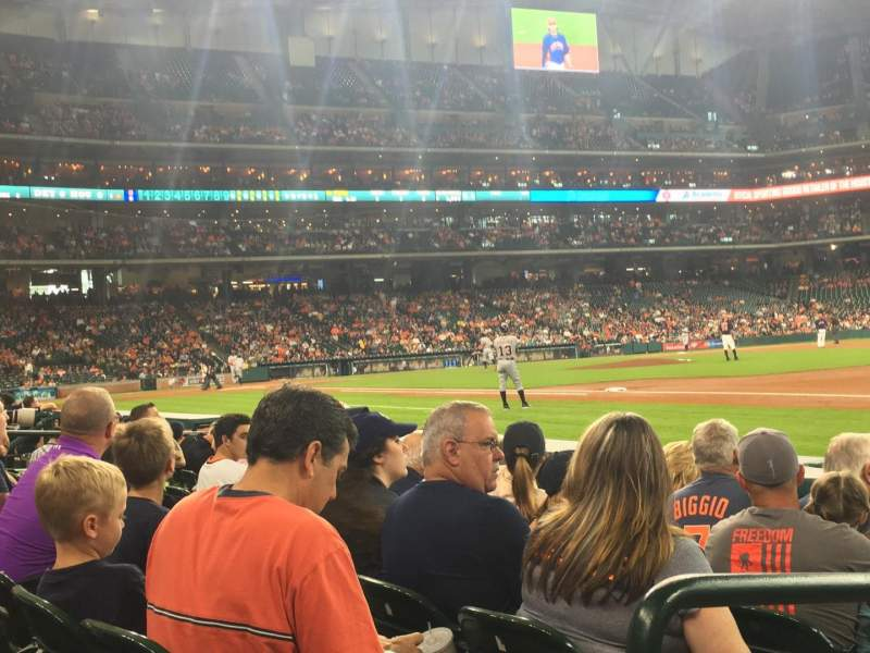 Seating view for Minute Maid Park Section 128 Row 5 Seat 1